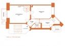 Sammenlægning af lejligheder, stueplan efter ombygning