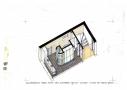 Skitseforslag af alle funktioner samlet i ét rum. Sammenlægning af to rum i kælderen gav mulighed for et multifunktionelt badeværelse til den travle familie.