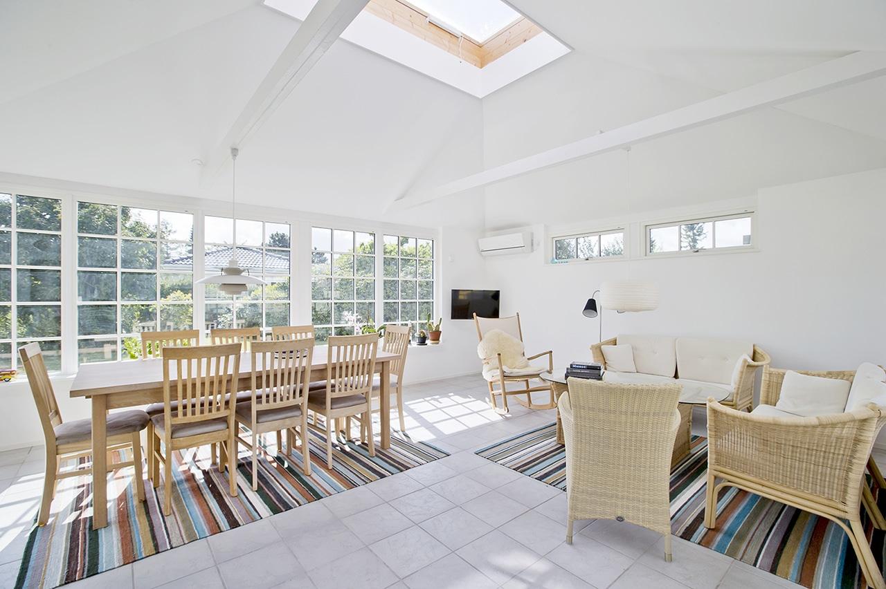 Orangeriet åbner for en fleksibel indretning og hyggekroge.