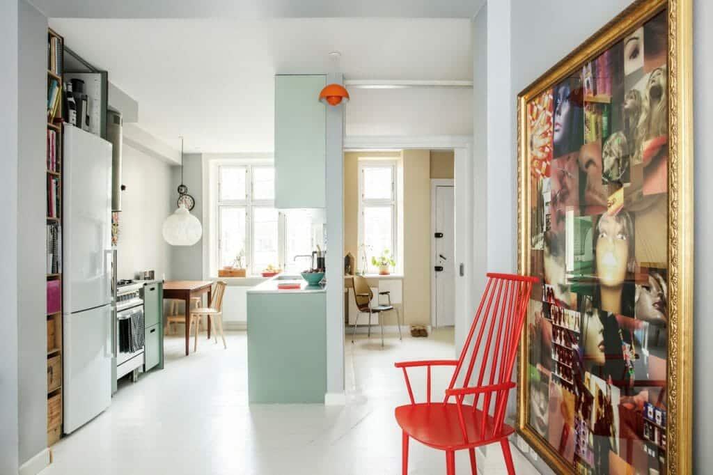 Ombygning af lejligheden fremtryllede plads og dagslys, ny planløsning gav ekstra værelse i lejligheden.