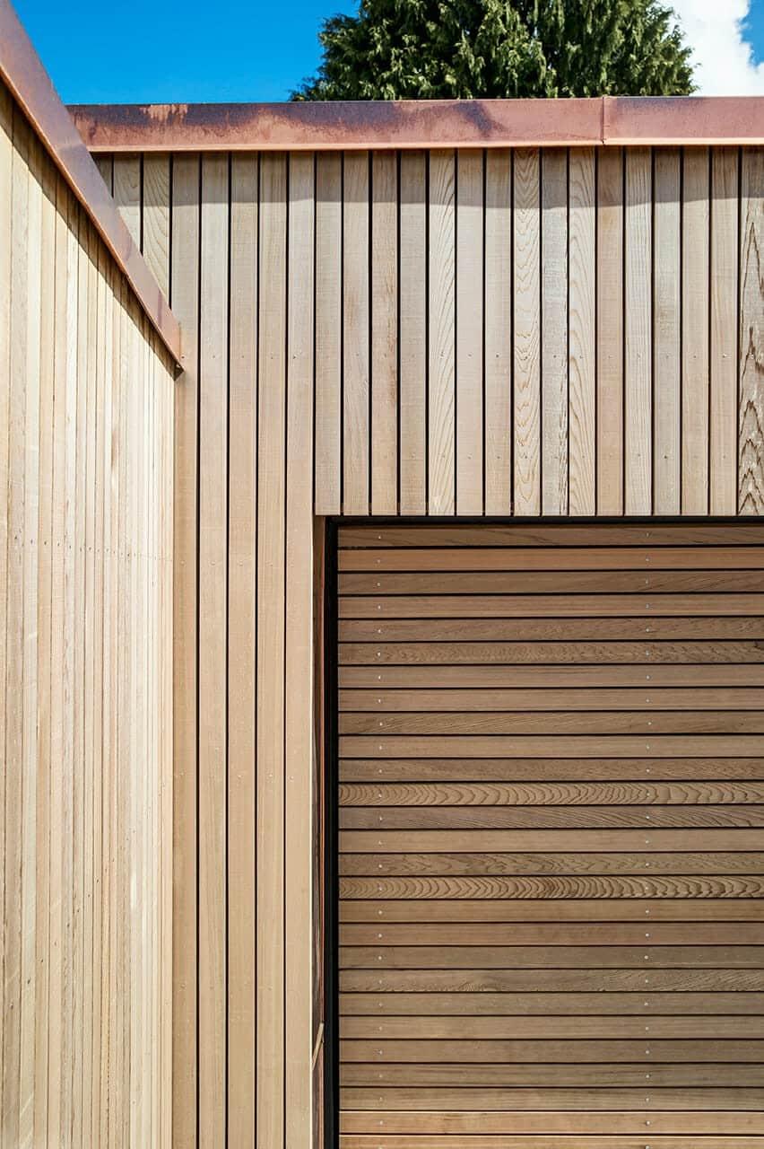Cedertræ og kobberinddækninger på ny garage og skur