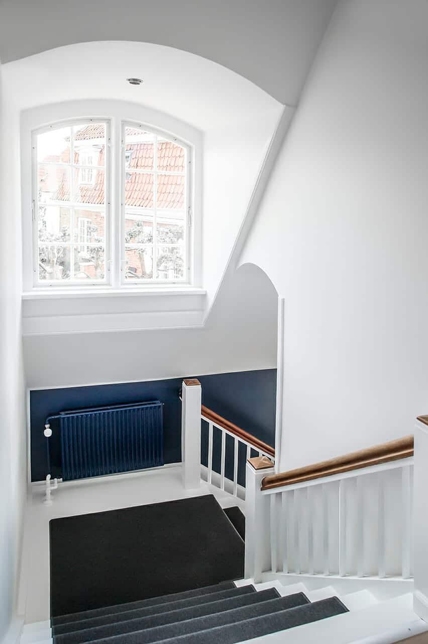 Originale detaljer fremhævet i bevaringsværdigt hus