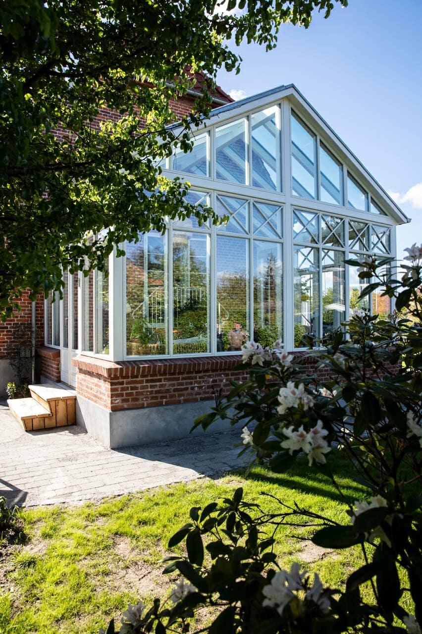 Arkitekttegnet orangeri og have