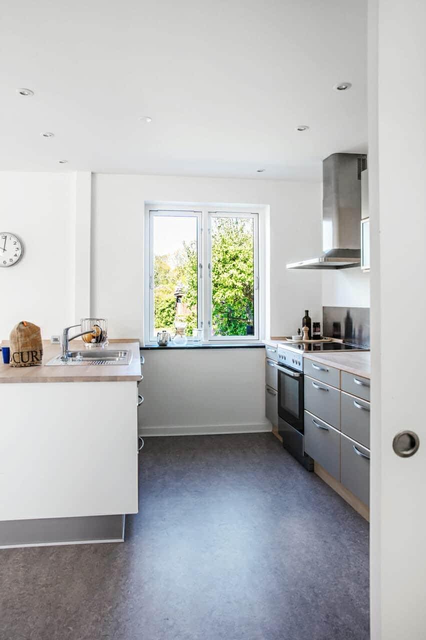 Ombygning af 1940'er villa med nyt køkkenalrum